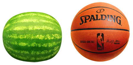 shape of pregnent tummy basketball or watermelon